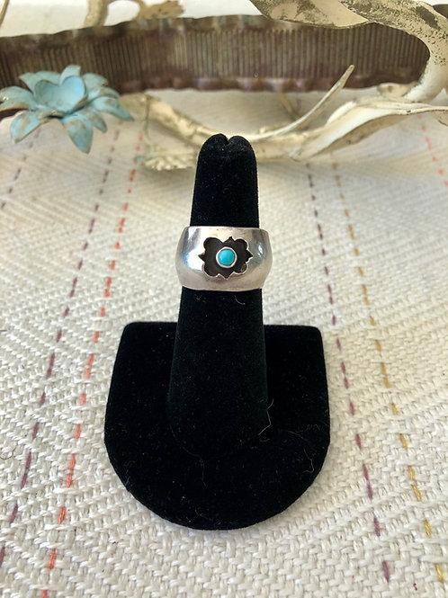Sterling Band with Inset Turquoise Stone