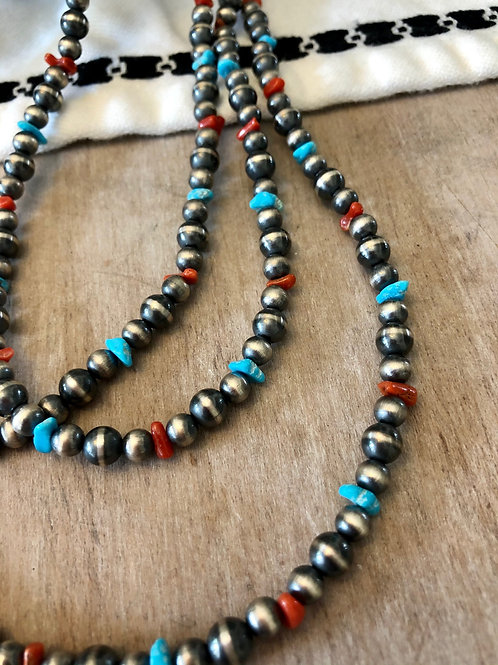 Coral and Turquoise Navajo Jump Rope