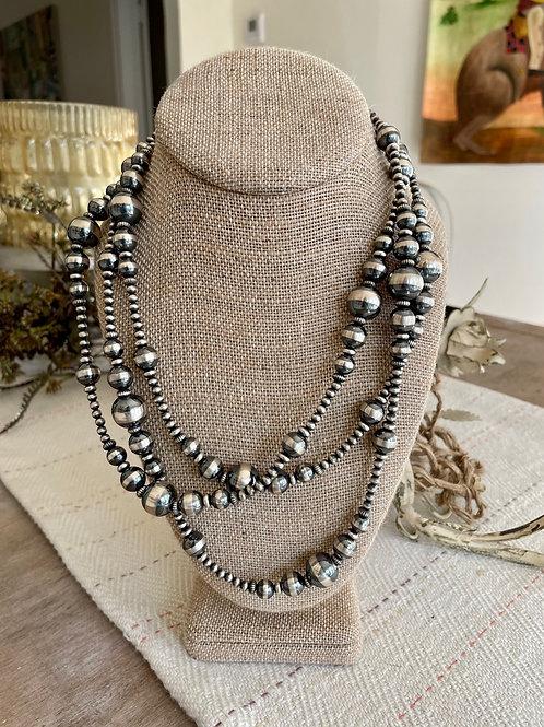 Graduated Pearls Sterling Silver Navajo Jump Rope