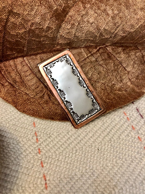 Copper and Sterling Silver Money Clip
