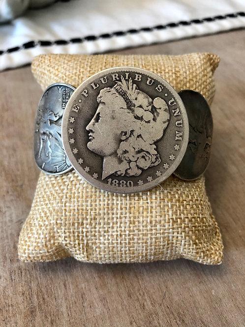 Vintage Coin Cuff Bracelet