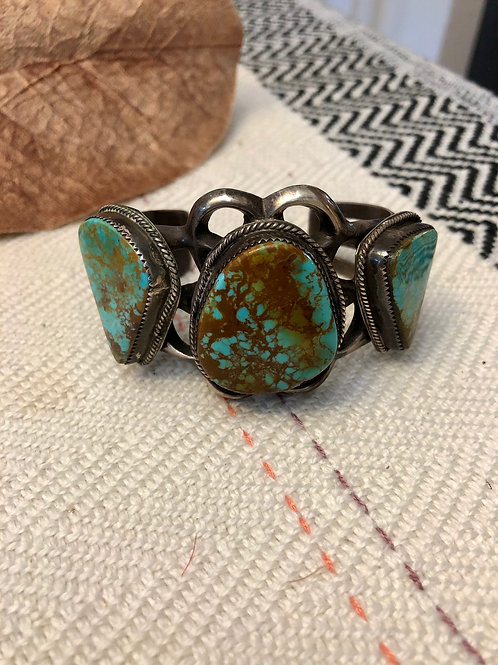 Vintage Sand Cast Turquoise Bracelet