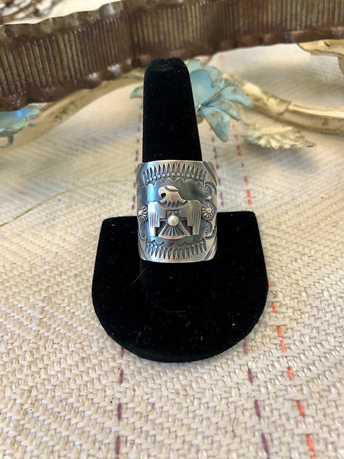 Sterling Silver Eagle Band
