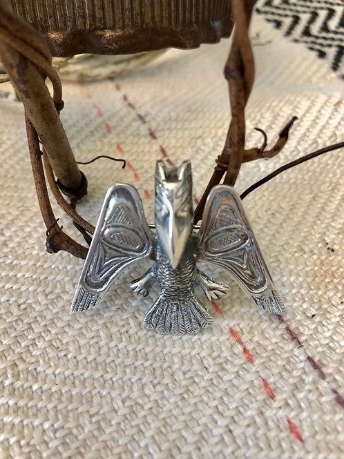 Vintage Sterling Silver Bird Pin