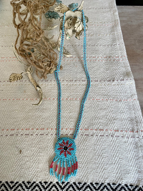 Beaded Basket Necklace