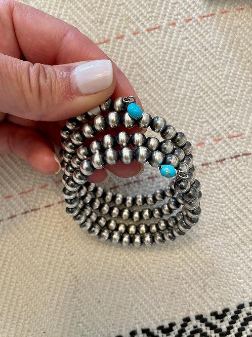 Navajo Pearl Wrap Bracelet