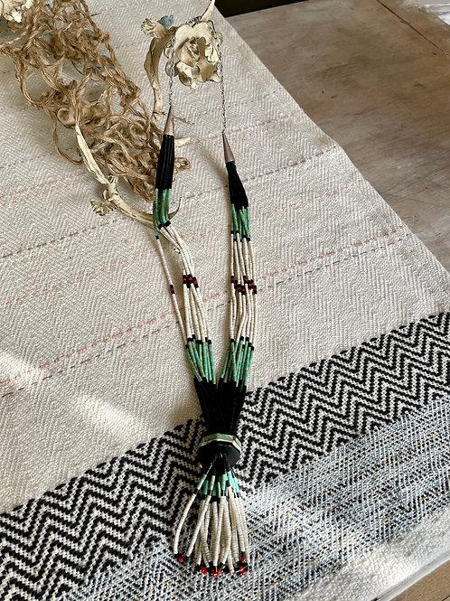 10 Strand Navajo HeiShi Beaded Necklace