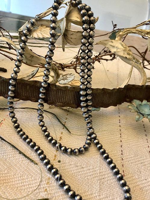Long Single Strand, Navajo Pearls