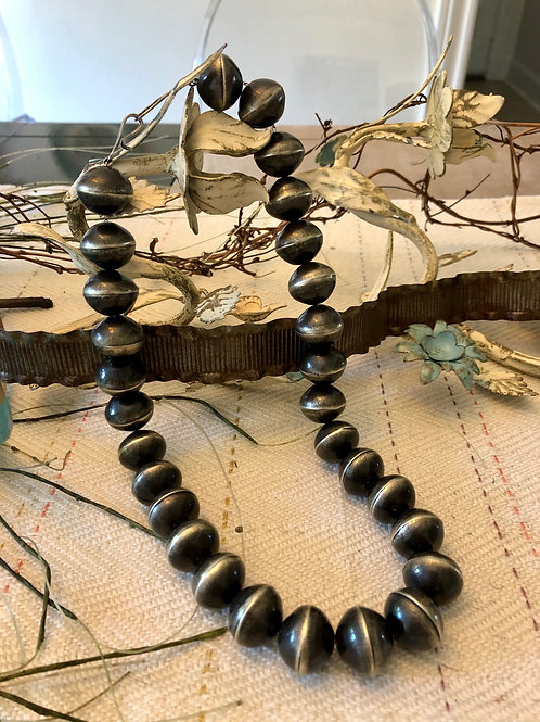 Large Oxidized Navajo Pearls