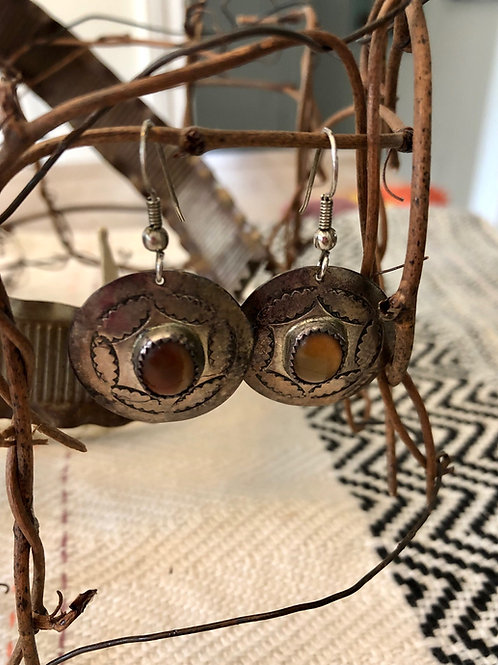 Sterling Silver and Tiger Eye Earrings