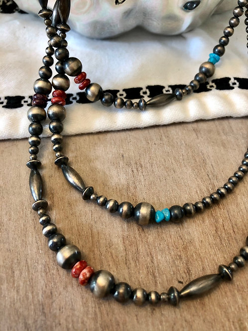 Spiny Oyster and Turquoise Navajo Jump Rope