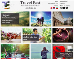 Travel East homepage