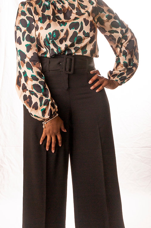 Bishop Sleeved Leopard Blouse