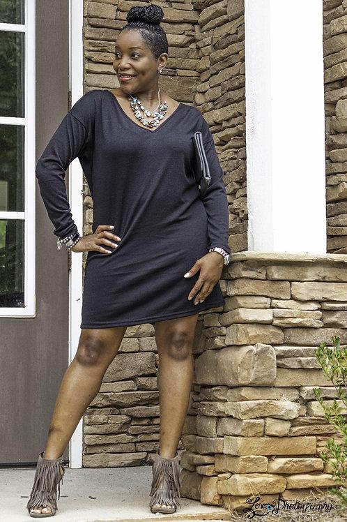 Vneck Knit Dress