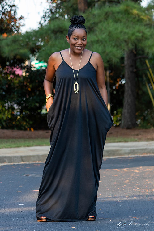 Spaghetti Strapped Maxi Dress