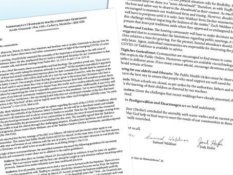 Hutterite Church Letter #2