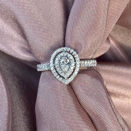 Vakre pæreformede diamanter