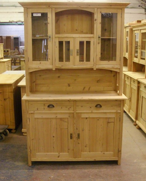 Antique pine dresser - stripped of paint