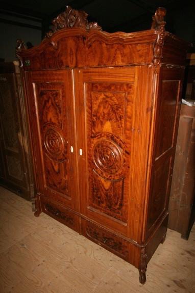 Old German knockdown wardrobe - original paint