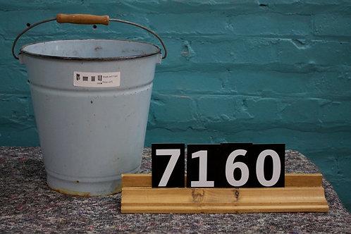 Vintage Enamel Bucket 7160