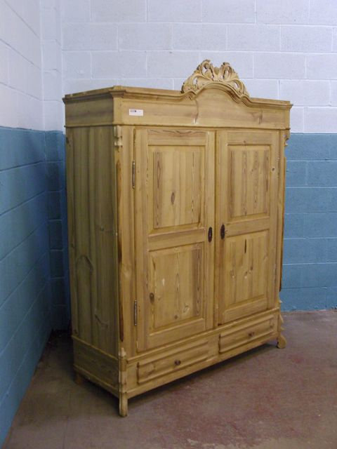 Antique Pine Wardrobe 4871