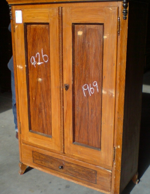 Old antique pine cupboard - original paint