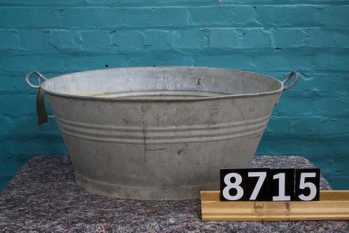 Vintage Zinc Tub 8715