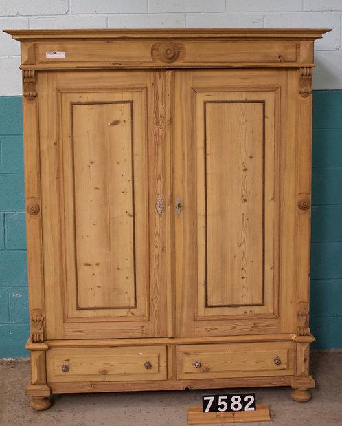 Antique Pine Wardrobe 7582