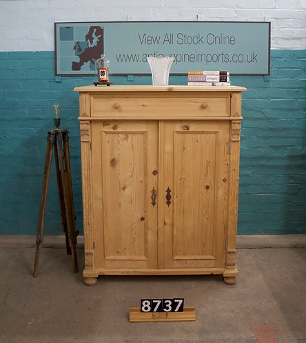Waxed Antique Pine TV Cupboard 8737