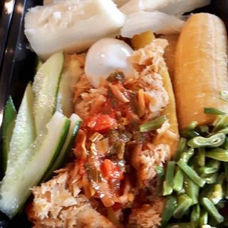 Heri-heri met zoute vis