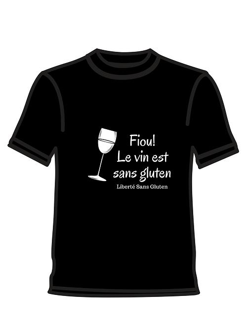 le vin est sans gluten Homme