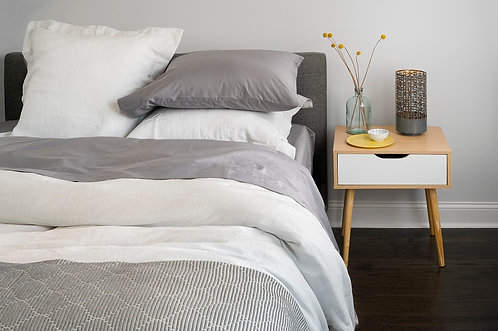 100% Supima Cotton, 500 Thread Count Sateen Solid Flat Sheet