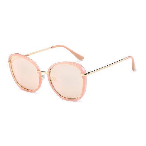 Pink Frame Round Cat Eye Sunglasses