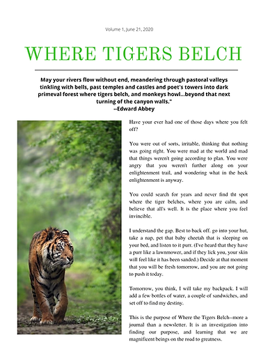 Where Tigers Belch