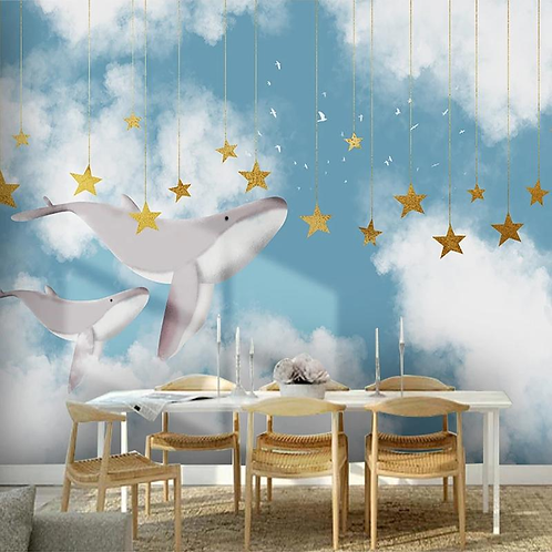 Wallpaper Whale, price per meter