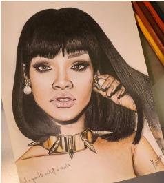 Arte con M. Rihanna