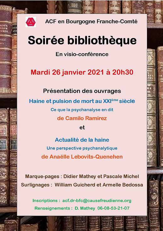 Soirée Bibliothèque de l'ACF en B F-C