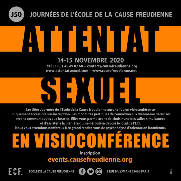 """50es Journée de l'Ecole de la Cause freudienne """"Attentat sexuel"""""""