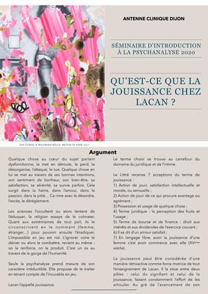 Séminaire Théorique -11 Septembre 2020