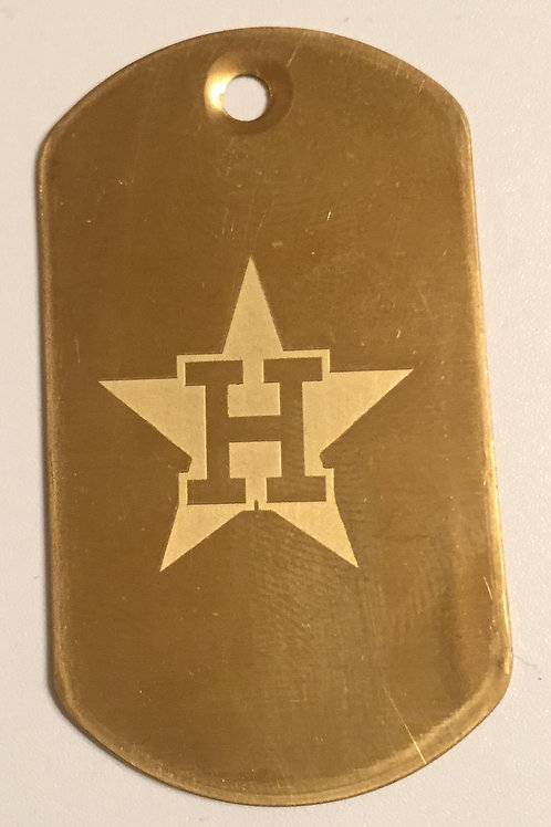 Houston Astros Dog Tag