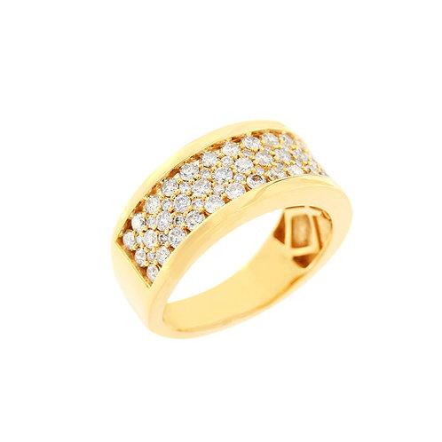 Migos Style Half Row Diamond Ring