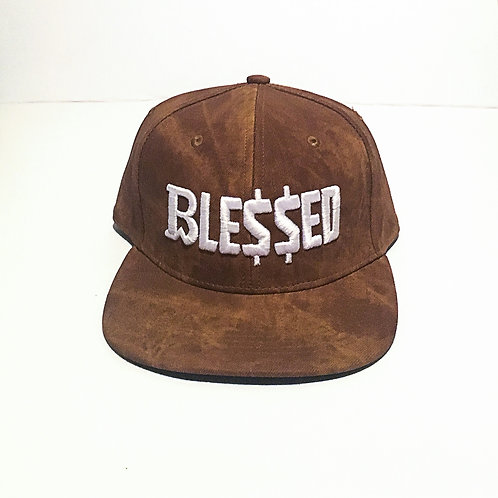 BW Blessed | Brown Suede Snapback