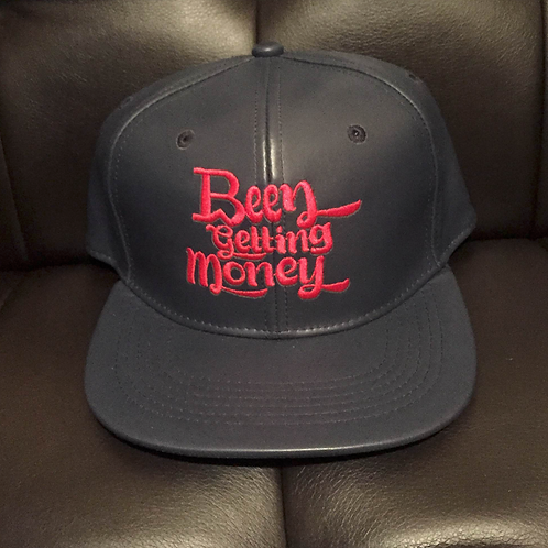 BW Been Getting Money | NAVY BLUE Vegan Leather Snapback