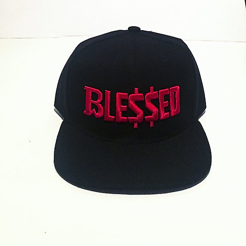 BW Blessed   Snap Back   Red