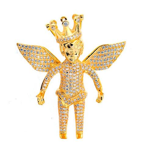 Sterling Sliver Gold Plated Angel Charm