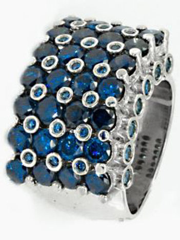 Blue Diamond Boss Ring