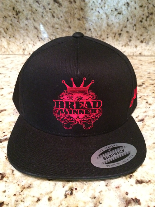 BreadWinner Logo Hat Black & Red