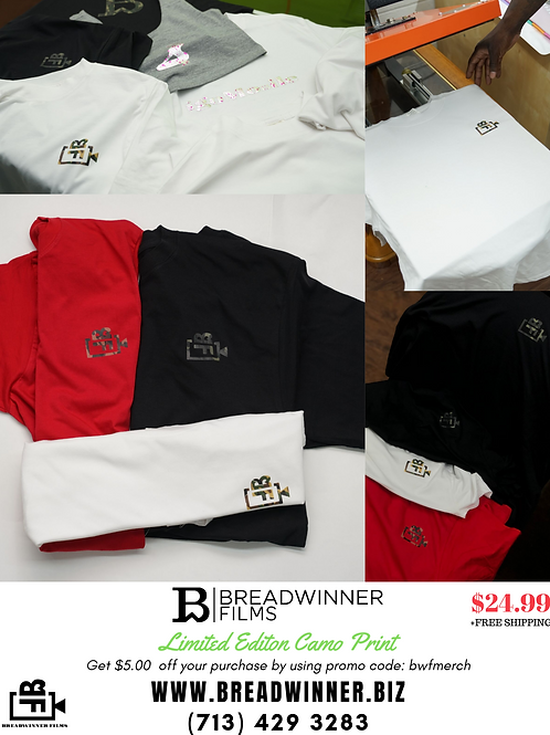 Breadwinner Films Limited Edition Camo Logo Tee