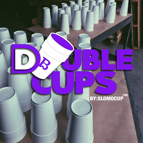 Double Cups By: SlomoCup (Includes Decorative Sticker Pack)