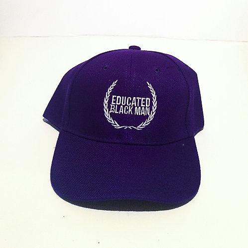 Educated Black Man | Baseball Cap |Purple/White
